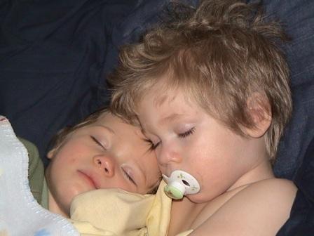 Apparently our horns go away when we sleep!!